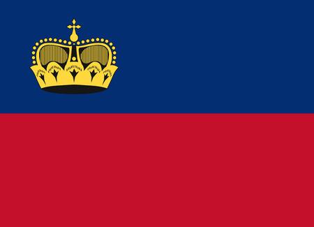 liechtenstein: Flag of Liechtenstein vector illustration Illustration