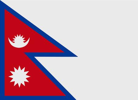 Vlag van Nepal vector illustratie Stock Illustratie