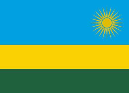 rwanda: Flag of Rwanda vector illustration Illustration