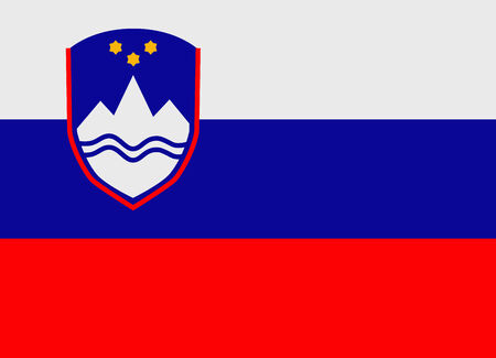 slovenia: Flag of Slovenia vector illustration Illustration