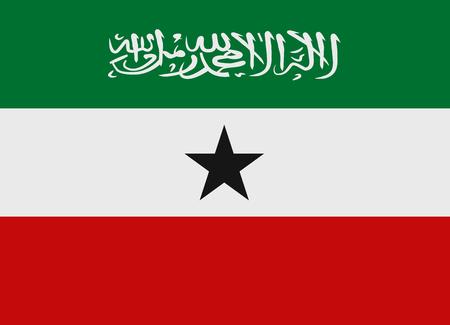 somaliland: Flag of Somaliland vector illustration Illustration