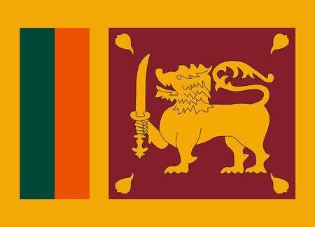 sri: Flag of Sri Lanka vector illustration