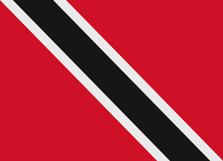 trinidad: Flag of Trinidad and Tobago vector illustration