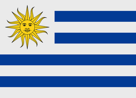 uruguay: Flag of Uruguay vector illustration