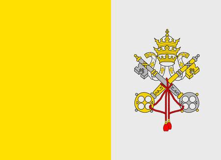 Flag of Vatican vector illustration