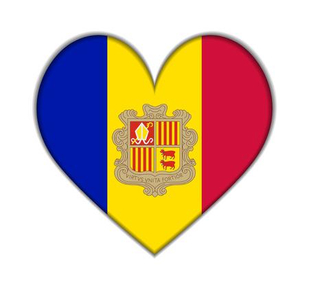andorra: Andorra heart flag vector illustration Illustration