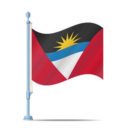 barbuda: Flag of Antigua and Barbuda vector illustration