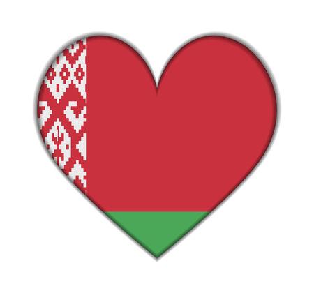 belarus: Belarus heart flag vector illustration