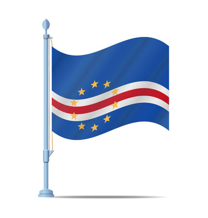 cape verde: Flag of Cape Verde vector illustration