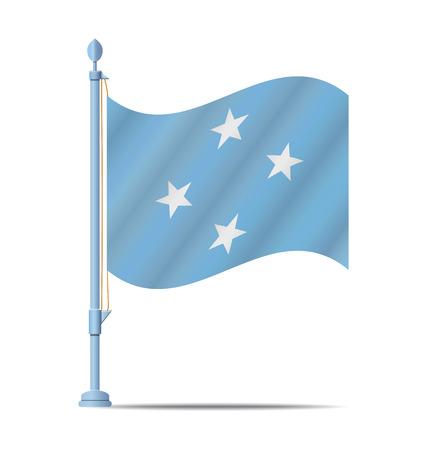 micronesia: Flag of F.S. Micronesia vector illustration