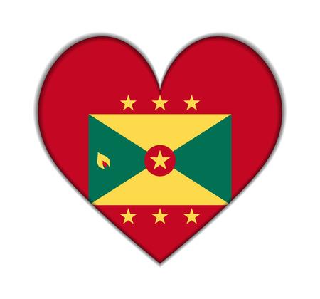 grenada: Grenada heart flag vector illustration Illustration