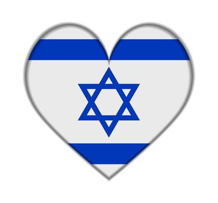 Israel heart flag vector illustration Vector