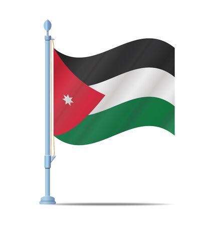 jordan: Flag of jordan vector illustration