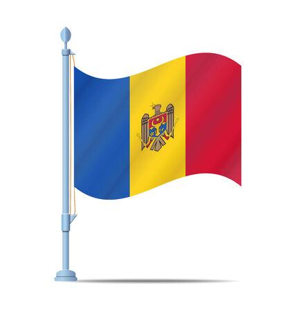 Flag of Moldova vector illustration Vector