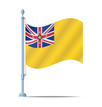 niue: Flag of Niue vector illustration