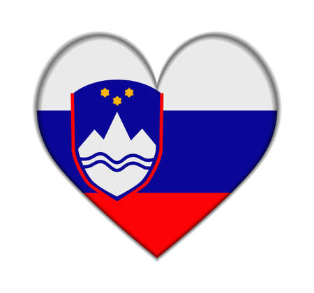 slovenia: Slovenia heart flag vector illustration