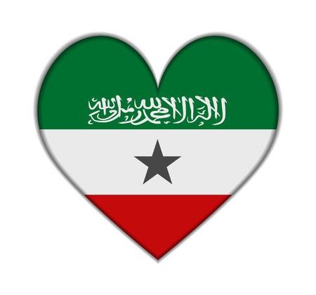 somaliland: Somaliland heart flag vector illustration Illustration
