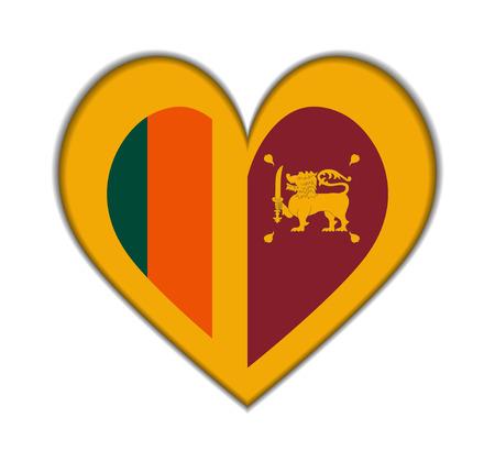 sri: Sri Lanka heart flag vector illustration