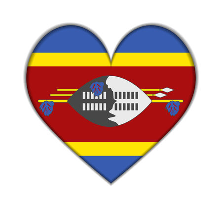 swaziland: Swaziland heart flag vector illustration Illustration
