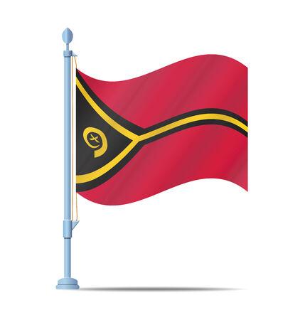 vanuatu: Flag of Vanuatu vector illustration