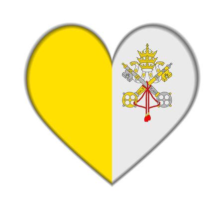 ciudad del vaticano: Ciudad del Vaticano ilustraci�n del coraz�n del indicador del vector