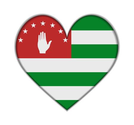 abkhazia: Abkhazia heart flag vector illustration Illustration