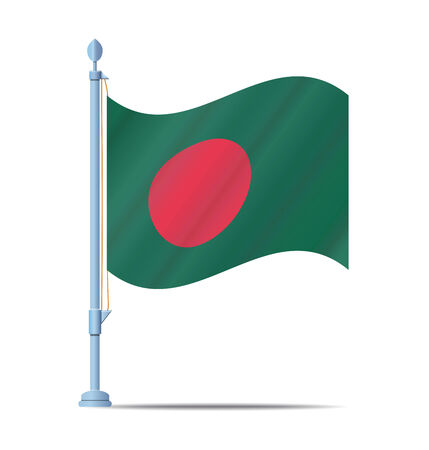 bangladesh: Flag of Bangladesh vector illustration