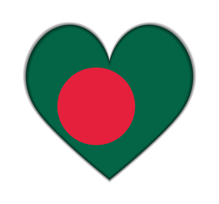 bangladesh: Bangladesh heart flag vector illustration