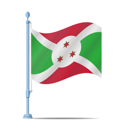 burundi: Flag of Burundi vector illustration