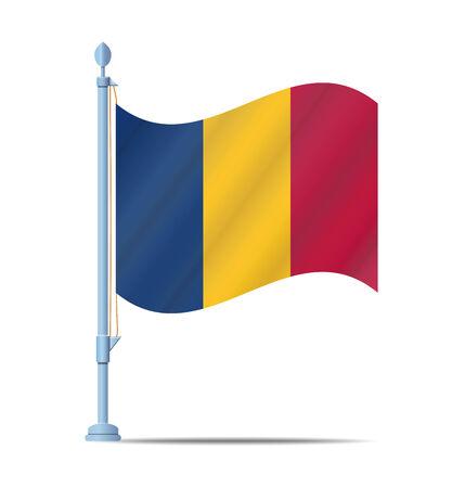 chad: Flag of Chad vector illustration
