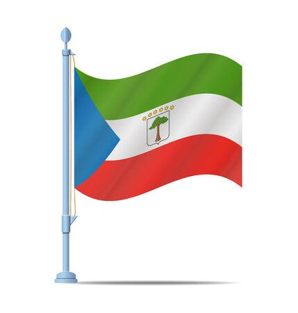 guinea equatoriale: Bandiera della Guinea Equatoriale illustrazione vettoriale Vettoriali