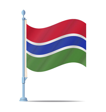 gambia: Flag of Gambia vector illustration