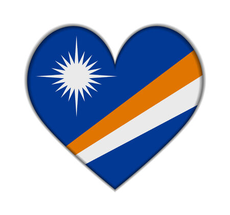 marshall: Marshall Islands heart flag vector illustration