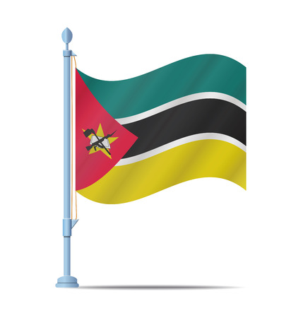 Mozambique: Flag of Mozambique vector illustration