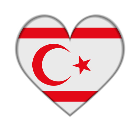 Northern Cyprus heart flag vector illustration Vector