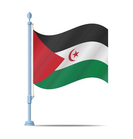sahrawi arab democratic republic: Flag of Sahrawi Arab Democratic Republic vector illustration Illustration