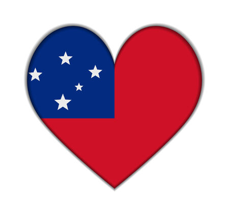 samoa: Samoa heart flag vector illustration