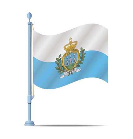 san marino: Flag of San Marino vector illustration