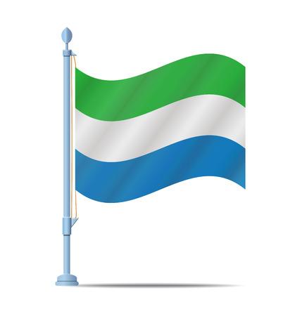 sierra: Flag of Sierra Leone vector illustration