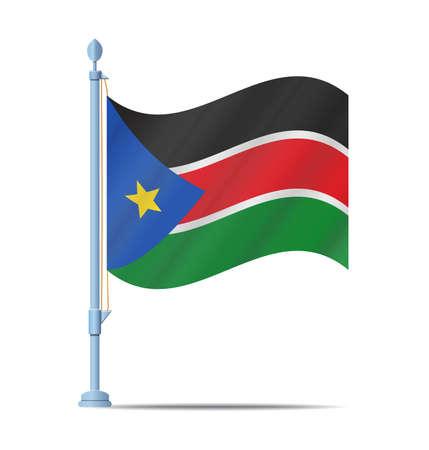 Flag of South Sudan vector illustration Illustration
