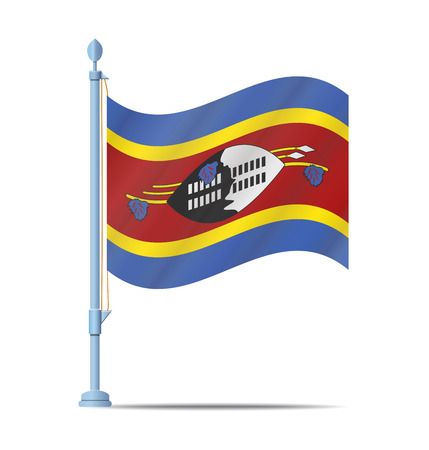 swaziland: Flag of Swaziland vector illustration
