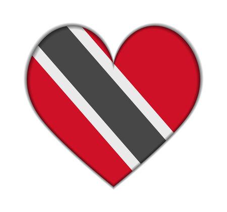 trinidad: Trinidad and Tobago heart flag vector illustration