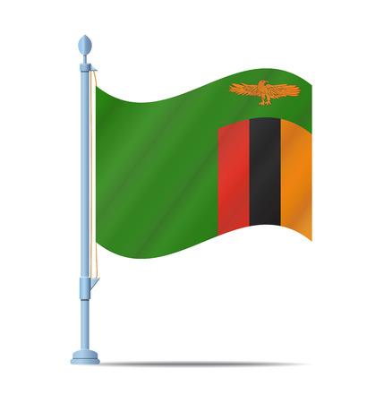 zambia: Flag of Zambia vector illustration