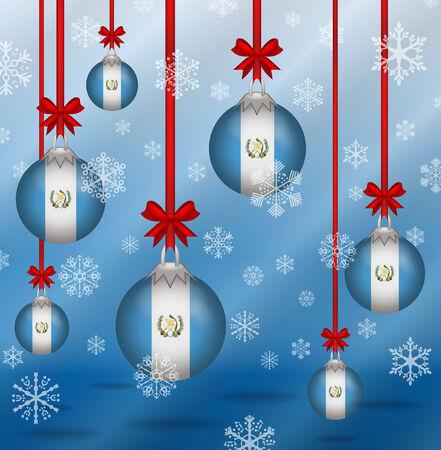 guatemala: Ilustration Christmas background flags Guatemala Illustration