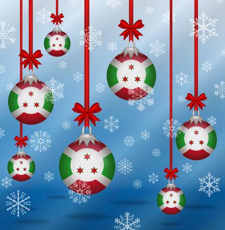 burundi: Ilustration Christmas background flags Burundi
