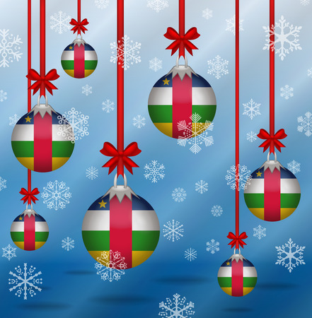 central african republic: Ilustration Christmas background flags Central African Republic