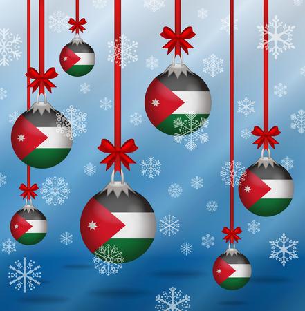 jordan: Ilustration Christmas background flags Jordan Illustration