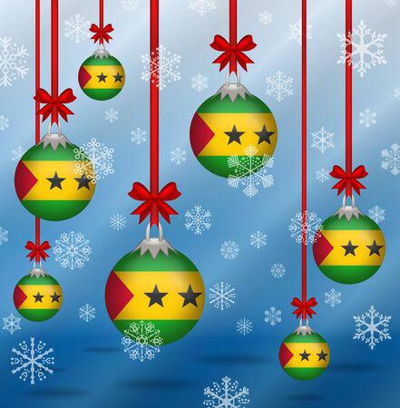 principe: Banderas fondo Ilustration Navidad Santo Tom� y Pr�ncipe
