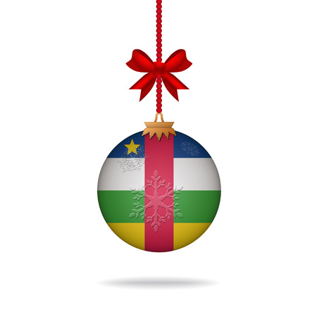 central african republic: Ilustration christmas ball flag Central African Republic