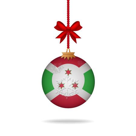 burundi: Ilustration christmas ball flag Burundi